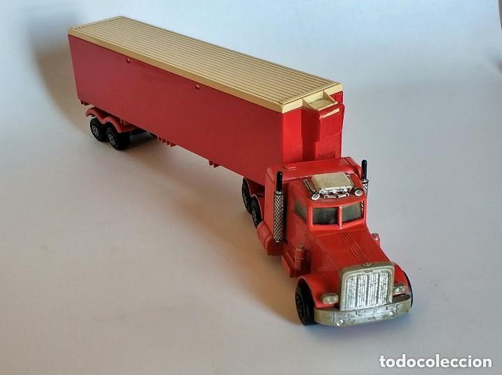 Coches a escala: Vintage 1978 Matchbox SuperKings K-17 trailer rojo truck peterbilt lesney - Foto 7 - 193211191