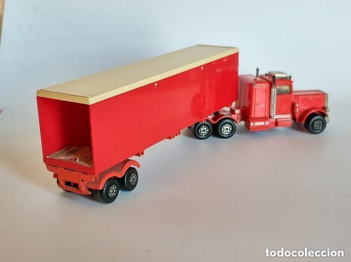 Coches a escala: Vintage 1978 Matchbox SuperKings K-17 trailer rojo truck peterbilt lesney - Foto 8 - 193211191