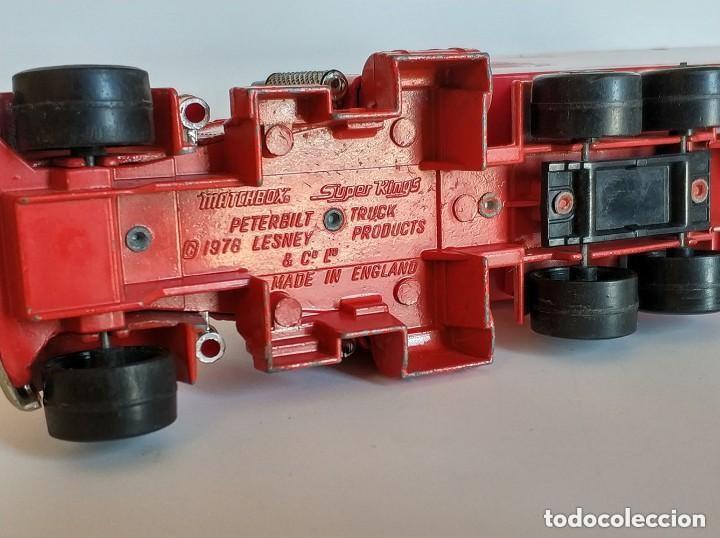 Coches a escala: Vintage 1978 Matchbox SuperKings K-17 trailer rojo truck peterbilt lesney - Foto 10 - 193211191