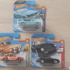 Coches a escala: LOTE 3 COCHES HOTWHEELS (PORSCHE CARRERA, MUSTANG Y FORD ESCORT). Lote 194534257