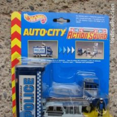 Coches a escala: AUTO CITY POLICE - POLICE ACTION SQUAD - HOT WHEELS - MATTEL. Lote 194536482