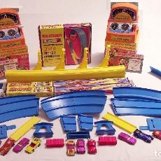 Coches a escala: MATCHBOX SUPERFAST TRACK 800, 13 COCHES Y 2 LOOPING ¡¡UNICO EN TODOCOLECCION!!. Lote 194691330