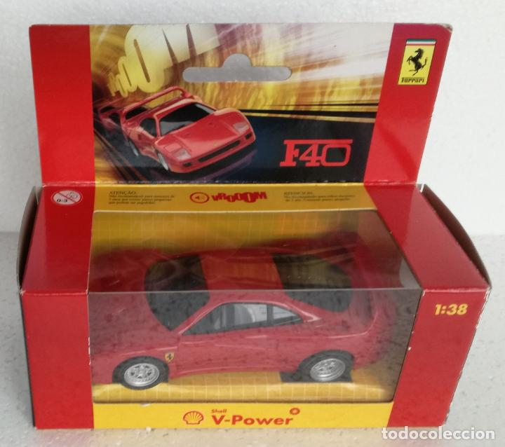 Coches a escala: Coches de coleccion Ferrari Shell V-Power: Ferrari F40 - Escala 1:38 - Foto 1 - 194743511