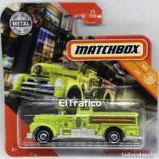 Coches a escala: MATCHBOX SEAGRAVE FIRE ENGINE, TIPO HOT WHEELS 1:64 / (2). Lote 194938230