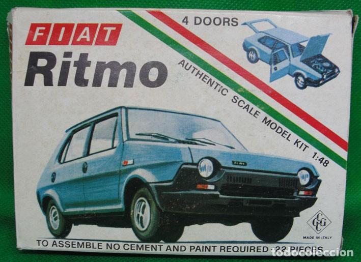 MAQUETA FIAT RITMO - MADE IN ITALY - ESCALA 1/48 - VINTAGE - AÑOS 80 - CGGC - (Juguetes - Coches a Escala Otras Escalas )