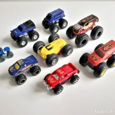 Coches a escala: LOTE DE COCHES VARIOS TIPO 4X4 MONSTERS TRUCK. Lote 195495020