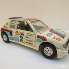 Coches a escala: PEUGEOT 205 TURBO - ESCALA 1/25 - BURAGO - MADE IN ITALY. Lote 197051522