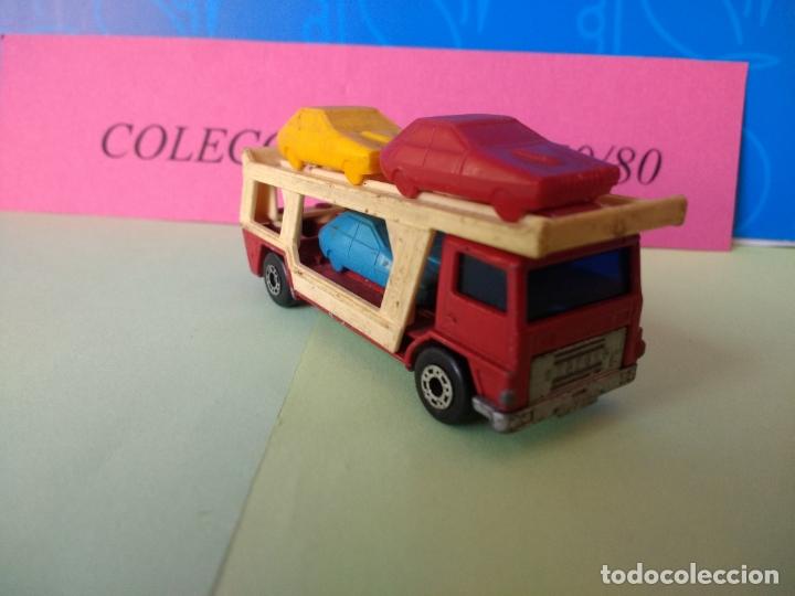 Coches a escala: CAMIÓN TRANSPORTE DE COCHES MATCHBOX AÑO 1978 LESNEY MADE IN ENGLAND CAR Nº 11 - Foto 3 - 197899462