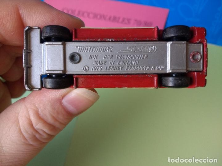 Coches a escala: CAMIÓN TRANSPORTE DE COCHES MATCHBOX AÑO 1978 LESNEY MADE IN ENGLAND CAR Nº 11 - Foto 4 - 197899462