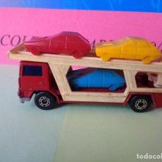 Coches a escala: CAMIÓN TRANSPORTE DE COCHES MATCHBOX AÑO 1978 LESNEY MADE IN ENGLAND CAR Nº 11. Lote 197899462