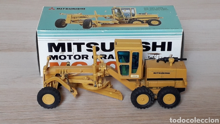 Coches a escala: Motoniveladora Mitsubishi Motor Grader MG 400 esc. 1/50 Promotional Dealers, made in Japan, años 70. - Foto 3 - 198049511