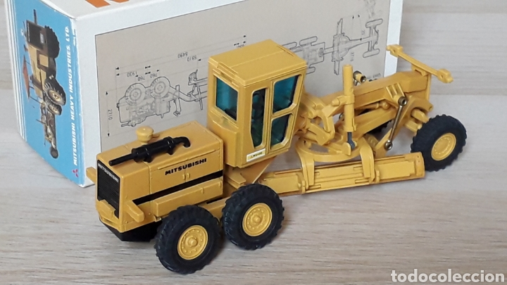 Coches a escala: Motoniveladora Mitsubishi Motor Grader MG 400 esc. 1/50 Promotional Dealers, made in Japan, años 70. - Foto 4 - 198049511