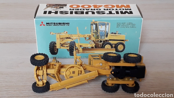 Coches a escala: Motoniveladora Mitsubishi Motor Grader MG 400 esc. 1/50 Promotional Dealers, made in Japan, años 70. - Foto 6 - 198049511