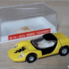 Coches a escala: ALFA ROMEO SCARABEO REF. 44, METAL ESC. 1/64, GUISVAL IBI MADE IN SPAIN, ORIGINAL AÑO 1972. CAJA.. Lote 198854960