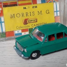 Coches a escala: MORRIS MG 1100 REF. 28, METAL ESC. 1/64, GUISVAL IBI MADE IN SPAIN, ORIGINAL AÑO 1972. CAJA.. Lote 198856470