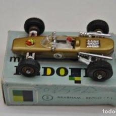 Coches a escala: BRAHAM F1 Nº 3 MINI REDONDO MADE IN SPAIN EN CAJA ORIGINAL. Lote 199126805