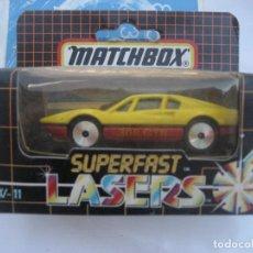 Coches a escala: MATCHBOX. SUPERFAST. LASER. LW-11. FERRARI. 1986. EN SU CAJA ORIGINAL. SIN USAR. Lote 199281165