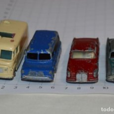 Coches a escala: LOTE DIECAST - MATCHBOX BY LESNEY - SERIES NÚM 25, 33, 53 Y 62 / MADE ENGLAND ¡MIRA FOTOS/DETALLES!. Lote 200291740