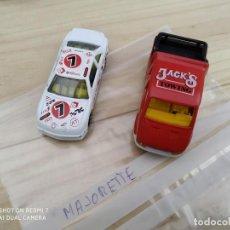 Coches a escala: LOTE COCHES JUGUETE MAJORETTE FORD TRANSIT JACK¨S STOCK CAR. Lote 200334471