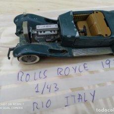 Coches a escala: COCHE JUEGUETE METALICO ROLLS ROYCE 1931 1/43 RIO ITALY LEER DESCRIPCCION. Lote 200606542