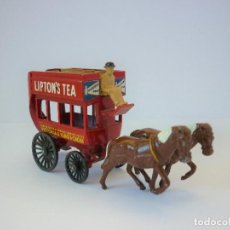 Coches a escala: ANTIGUO MATCHBOX LESNEY YESTERYEAR Y12-1. 1899 HORSE DRAWN LONDON BUS. AUTOBÚS A CABALLO. AÑO 1959.. Lote 197290140