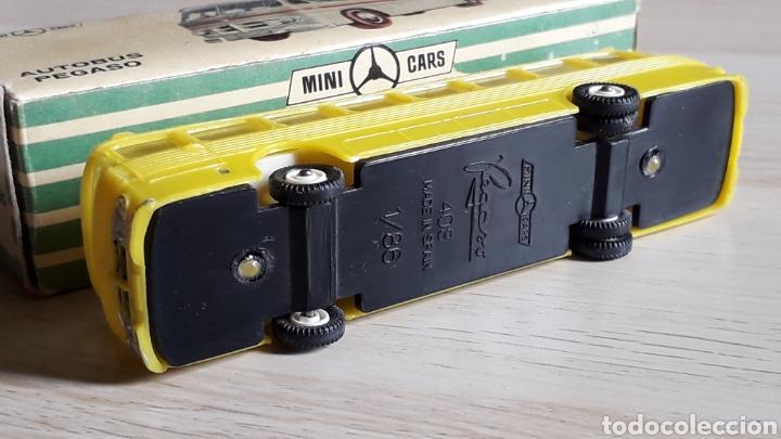 Coches a escala: Autobus Pegaso *Amarillo* ref. 59, plástico esc. 1/86 H0, Anguplas Mini-Cars, original 1960. - Foto 6 - 200865818