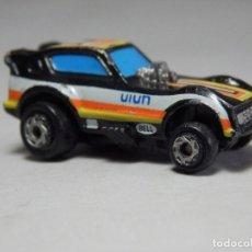 Coches a escala: MICRO MACHINES GALOOB 1986 PLYMOUTH ARROW FUNNY CAR, BLACK, YELLOW & ORANGE. Lote 202980638