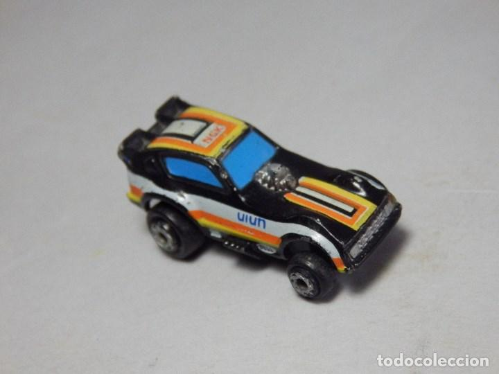 Coches a escala: Micro Machines Galoob 1986 Plymouth Arrow Funny Car, black, Yellow & Orange - Foto 2 - 202980638
