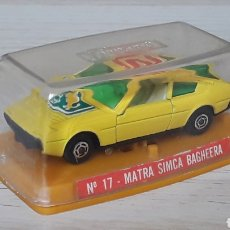 Coches a escala: MATRA SIMCA BAGHEERA REF. 17, METAL ESC. 1/64, GUISVAL IBI MADE IN SPAIN, ORIGINAL AÑOS 70-80.. Lote 204092808