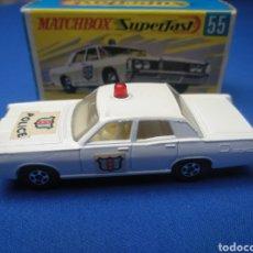 Coches a escala: MATCHBOX SUPERFAST NEW 55, POLICE CAR, NUEVO Y EN CAJA, ESCALA 1/64. Lote 204126371
