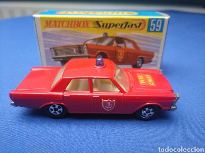 Coches a escala: MATCHBOX SUPERFAST NEW 59, FIRE CHIEF CAR, NUEVO Y EN CAJA, ESCALA 1/64 - Foto 3 - 204128313