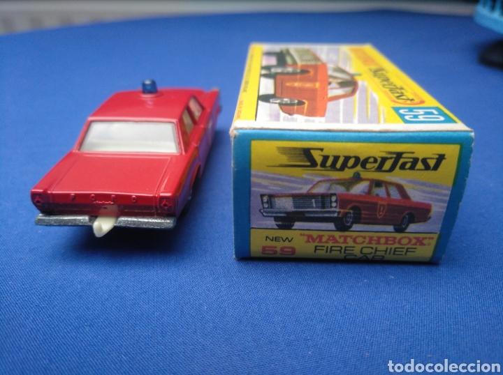 Coches a escala: MATCHBOX SUPERFAST NEW 59, FIRE CHIEF CAR, NUEVO Y EN CAJA, ESCALA 1/64 - Foto 4 - 204128313