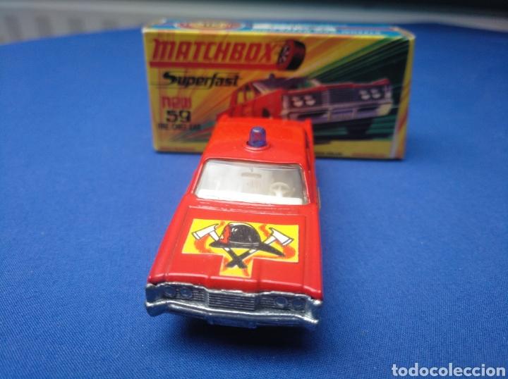 Coches a escala: MATCHBOX SUPERFAST NEW 59, MERCUTY FIRE CHIEF CAR, NUEVO Y EN CAJA, ESCALA 1/64 - Foto 2 - 204128671