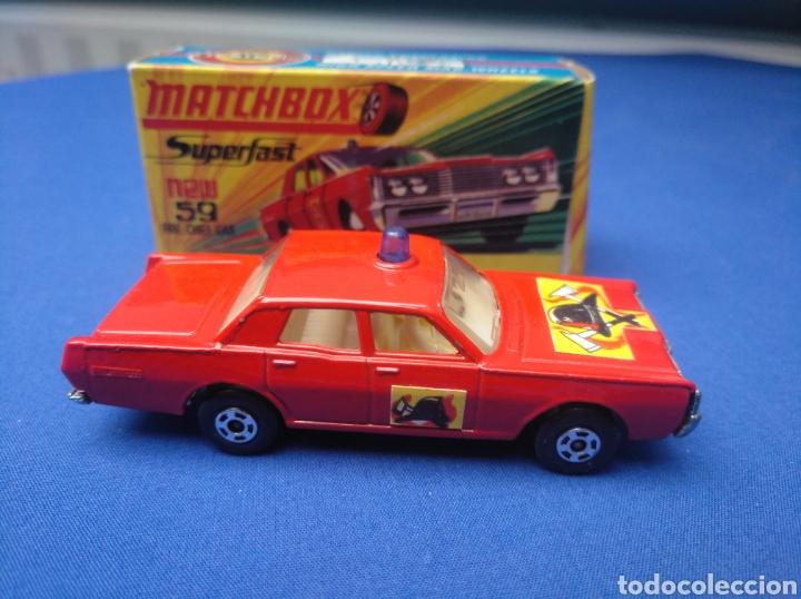Coches a escala: MATCHBOX SUPERFAST NEW 59, MERCUTY FIRE CHIEF CAR, NUEVO Y EN CAJA, ESCALA 1/64 - Foto 3 - 204128671