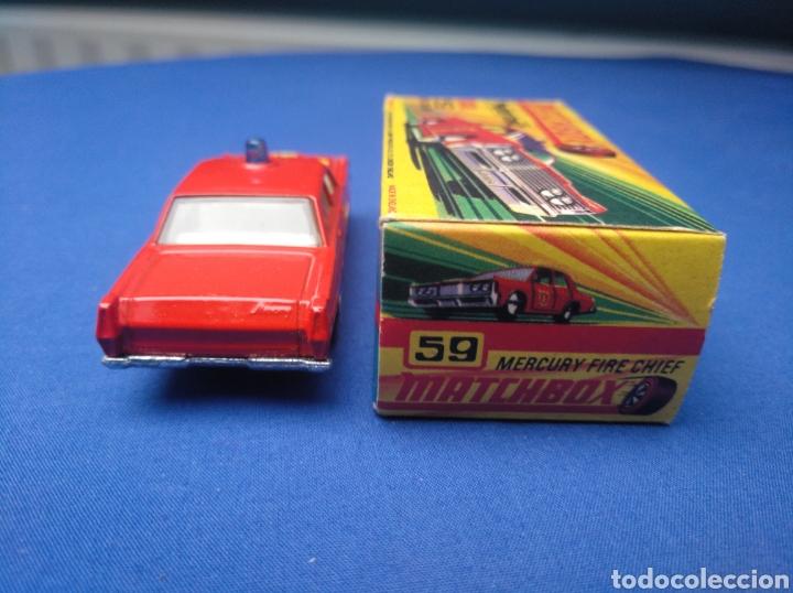 Coches a escala: MATCHBOX SUPERFAST NEW 59, MERCUTY FIRE CHIEF CAR, NUEVO Y EN CAJA, ESCALA 1/64 - Foto 4 - 204128671