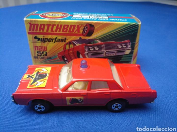 MATCHBOX SUPERFAST NEW 59, MERCUTY FIRE CHIEF CAR, NUEVO Y EN CAJA, ESCALA 1/64 (Juguetes - Coches a Escala Otras Escalas )