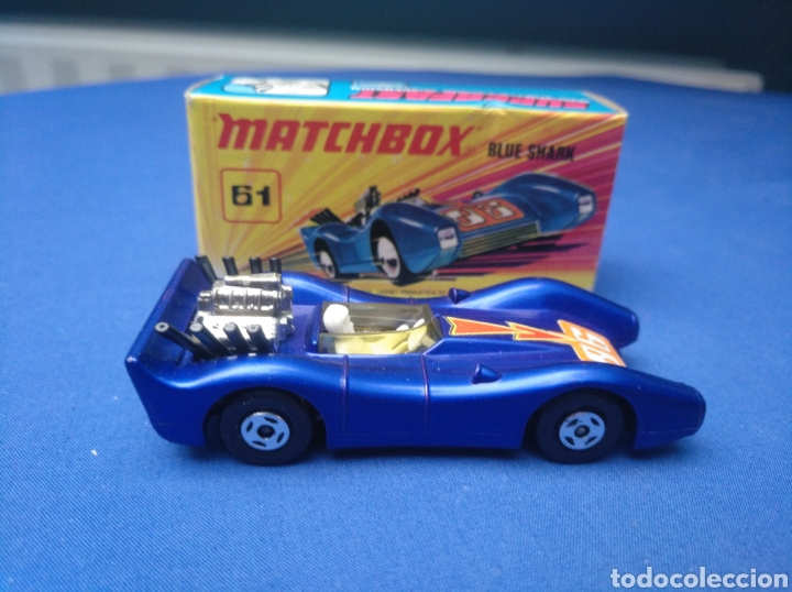 Coches a escala: MATCHBOX SUPERFAST NEW 61, BLUE SHARK, NUEVO Y EN CAJA, ESCALA 1/64 - Foto 3 - 204130832