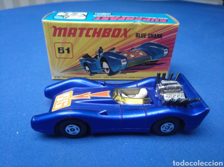 Coches a escala: MATCHBOX SUPERFAST NEW 61, BLUE SHARK, NUEVO Y EN CAJA, ESCALA 1/64 - Foto 1 - 204130832