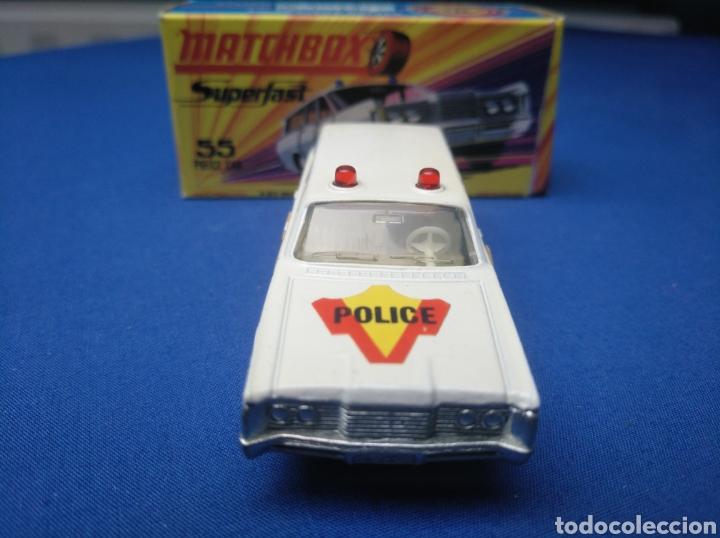Coches a escala: MATCHBOX SUPERFAST NEW 55, MERCURY POLICE CAR (MODELO 2), NUEVO Y EN CAJA, ESCALA 1/64 - Foto 2 - 204132247