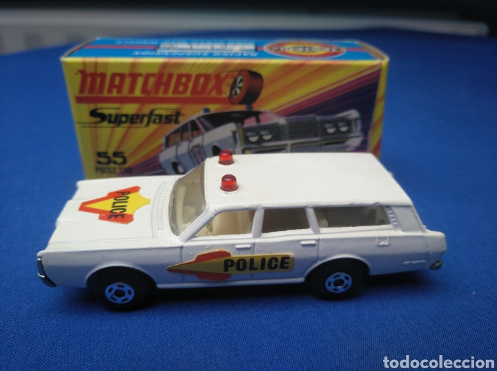 MATCHBOX SUPERFAST NEW 55, MERCURY POLICE CAR (MODELO 2), NUEVO Y EN CAJA, ESCALA 1/64 (Juguetes - Coches a Escala Otras Escalas )
