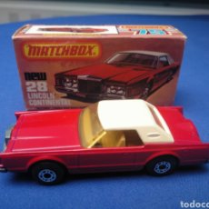 Coches a escala: MATCHBOX SUPERFAST LINCOLN CONTINENTAL, NEW 28 , NUEVO Y EN CAJA, ESCALA 1/64. Lote 204133980