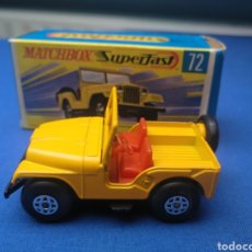 Coches a escala: MATCHBOX SUPERFAST STANDARD JEEP , NEW 72 , NUEVO Y EN CAJA, ESCALA 1/64.. Lote 205132806
