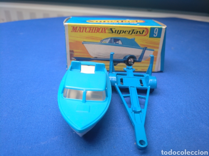 Coches a escala: MATCHBOX SUPERFAST BOAT AND TRAILER, NEW 9, , NUEVO Y EN CAJA, ESCALA 1/64. - Foto 2 - 205133192