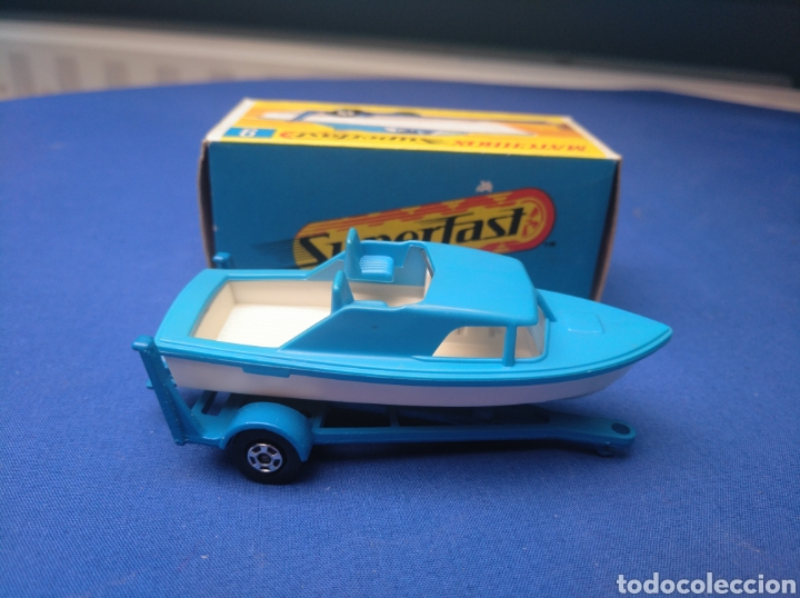 Coches a escala: MATCHBOX SUPERFAST BOAT AND TRAILER, NEW 9, , NUEVO Y EN CAJA, ESCALA 1/64. - Foto 3 - 205133192