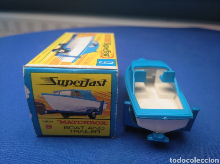 Coches a escala: MATCHBOX SUPERFAST BOAT AND TRAILER, NEW 9, , NUEVO Y EN CAJA, ESCALA 1/64. - Foto 4 - 205133192