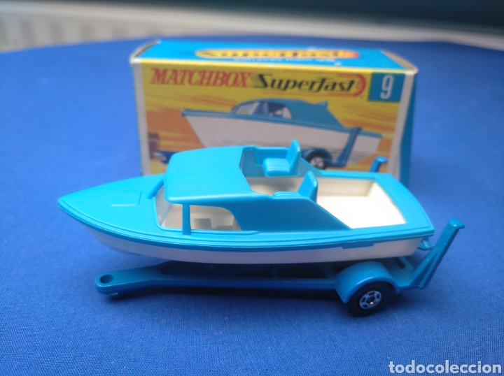 Coches a escala: MATCHBOX SUPERFAST BOAT AND TRAILER, NEW 9, , NUEVO Y EN CAJA, ESCALA 1/64. - Foto 1 - 205133192