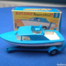 Coches a escala: MATCHBOX SUPERFAST BOAT AND TRAILER, NEW 9, , NUEVO Y EN CAJA, ESCALA 1/64.. Lote 205133192