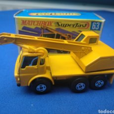 Coches a escala: MATCHBOX SUPERFAST, DODGE CRANE TRUCK, NEW 63, NUEVO Y EN CAJA, ESCALA 1/64.. Lote 205134410