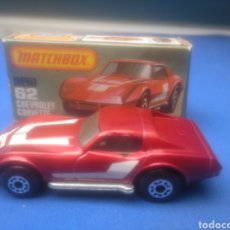 Coches a escala: MATCHBOX SUPERFAST CHEVROLET CORVETTE , NEW 62 , NUEVO Y EN CAJA, ESCALA 1/64. Lote 205275361