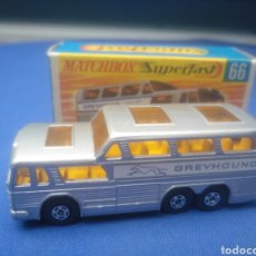 Coches a escala: MATCHBOX SUPERFAST GREYHOUND COACH, NEW 66, NUEVO Y EN CAJA, ESCALA 1/64. Lote 205383867